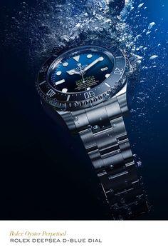 Rolex Deepsea with a D-Blue dial. #Exploration #RolexOfficial