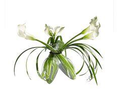 Set di 3 vasi in vetro Flower - 20x15x20 cm