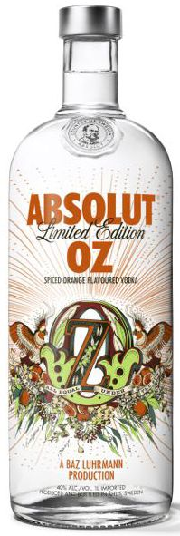 Absolut has teamed up with Baz Luhrmann to develop the vodka's first-ever Australia bottle – Absolut Oz