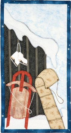 Patch Abilities Inc. Monthly Minis #2 available at www.patchabilities.com MM13 Winter Whimsy Sleds