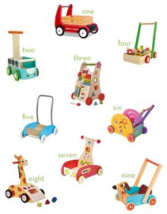 {best of} wooden baby walkers | thrifty littles blog #toys #babywalkers