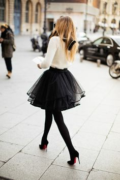 jupe évasée en tulle - classy & so elegant
