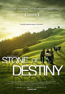 "Stone of Destiny. The film is based on real events and tells the story of the theft of the Stone of Scone on Christmas Day, 1950. The stone, supposedly the pillow stone used by Jacob in the Bible and the stone over which Scottish Kings were traditionally crowned at Scone in Perthshire, was seized by the English King Edward I in 1296 ... Steve mcDonald has a cd with beautiful scottish music called ""Stone of Destiny""."