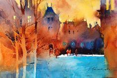 The Watercolour Log: Viktoria Prischedko (and Slawa too) - Wonderful Artists