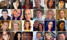 Photos of victims of Las Vegas shooting last weekend which shook the United States has been released. Among the victims of the deadliest mass shooting in US history are; Victims left to right top row: Sonny Melton 29 who died saving his surgeon wife Heathers (pictured together left) life Lisa Romero Susan Smith Jordan McIldoon 23 Neysa Tonks and Brennan Stewart. Second row left to right: Quinton Robbins 20 Angie Gomez Jessica Klymchuk 28 Adrian Murfitt 35 Sandy Casey 35 and Austin Davis…