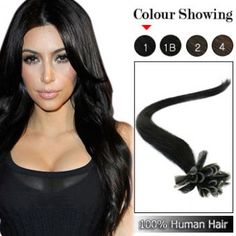 20 Inches Nail Tip Human Hair Extensions Straight ( Jet Black) Pre Bonded Hair Extensions, I Tip Hair Extensions, 100 Human Hair, Nail Tips, Color Show, Hair Lengths, Simple, Your Hair, Natural Hair Styles