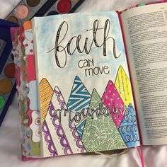 Did you know that we sell this kind of Bible in our online shop? This is an Interleaved Journaling Bible, it has a full blank pages for art and notes. Visit Move-the-Mountains.com to get your own!