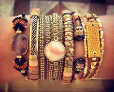 I especially like the bracelets in the centre