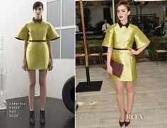 Lily Collins In Caterina Gatta – CFDA/Vogue Fashion Fund Show