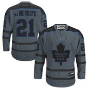 Cheer on the Toronto Maple Leafs in the Cross Check Premier fashion jersey! This James Van Riemsdyk Reebok jersey features a large Toronto Maple Leafs logo on the front, along with your favorite player's name and number on the back. You'll be ready to join your Toronto Maple Leafs down on the ice when you throw on this jersey!