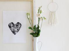 Mit Baumscheiben DIY-Wandbilder drucken | http://mammilade.blogspot.de | Personal Lifestyle, DIY and Interior Blog