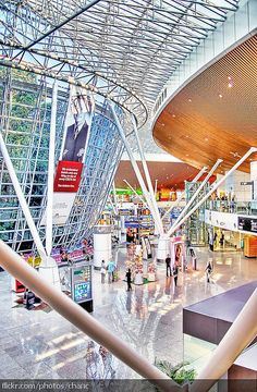 Kuala Lumpur International Airport - I only had a layover there but was really impressed; an excellent airport plus I loved the little rain forest thingy in the middle!:) -