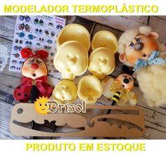 Modelador Termoplástico Kit Sapeca (3 tamanhos) - cód: TM02 na internet Clay Crafts, Animation, Templates, Creative, Internet, Painting, Eye Stickers, Animal Faces, Resin Molds