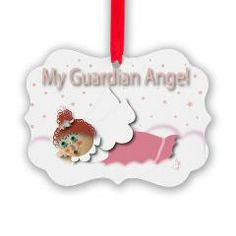 Raggedy Isabella Guardian Angel Picture Ornament> Raggedy Isabella> Angelic Inspirations  J.L. Designs