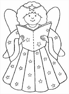 Angel Coloring Pages, Cat Coloring Page, Coloring Books, Christmas Colors, Christmas Art, Christmas Ornament Template, Art Drawings For Kids, Christmas Drawing, Christmas Coloring Pages