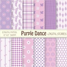 Purple Pink Digital Scrapbook Paper Pack Girl by DigitalStories, €2.60