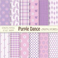 Purple Pink Digital Scrapbook Paper Pack Girl by DigitalStories, €2.60