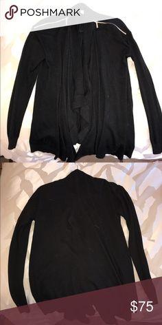 Michael Kors cardigan Black Michael kors sweater with zipper accents on shoulders. Michael Kors Sweaters Cardigans