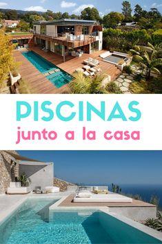 Piscinas junto a la vivienda. Diseño de piscinas modernas. #albercas#piscinas #piletas #estiloydeco #decoracionexterior Ideas De Piscina, My Dream, Rustic, Outdoor Decor, Home Decor, Rustic Modern, Pool Designs, Modern Pools, Modern Houses