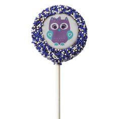 Purple Teal Owl Cookie Pops