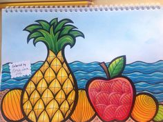 Coloring page from coloring book Mielikuvia vol1 by Päivi Vesala. Colored by…