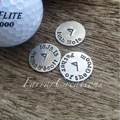 Personalized Golf Ball Markers  Choose 3 men's by FarrarCreations, $25.00