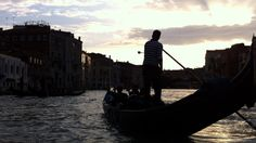 A sunset from a gondola on the Grand Canal....Venezia