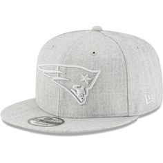 f081d5e64 Men s New England Patriots New Era Gray Twisted Frame 9FIFTY Adjustable  Snapback Hat