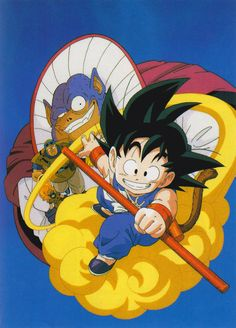 """artbookisland: """"Dragon Ball. Scan from Daizenshuu TV Animation Part 3. Click picture for (not so) HD scan. """" Even higher res scan of this image."""
