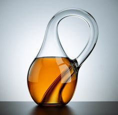 If you want to give a mathematician something to try to wrap their head around, a Klein bottle is a good place to start. A real Klein bottle is an object with no inside and no outside that can only exist in four dimensions. These glass models exist in three, which means that unlike the real thing, they can actually hold liquid. $35