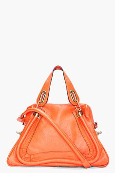 CHLOE Orange Medium Paraty Bag