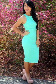 In The Waves Dress: Mint