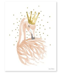 Poster kinderkamer Lilipinso: Flamingo roze met sterren 30 x 40 cm