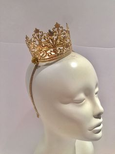 A personal favorite from my Etsy shop https://www.etsy.com/listing/522721495/gold-crown-queen-crown-birthday-hat-for