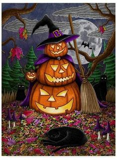 Trademark Global Jake Hose 'Halloween Magic' Canvas Art - 14 x 19 Artist Canvas, Canvas Art, Halloween Magic, Halloween Scarecrow, Halloween Pics, Halloween Painting, Happy Halloween, Baby Clothes Shops, Mother Day Gifts