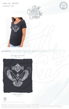 Kappa Delta   KD   Vintage Eagle Shirt Design   South by Sea   Greek Tee Shirts… Sorority Shirt Designs, Sorority Shirts, Custom Clothing Design, Custom Clothes, Greek Shirts, Tanks, Tank Tops, Custom Greek Apparel, Buzzard