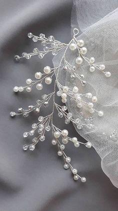 Wedding Headband, Bridal Hair, Pearl Bridal, Halo Headband, Headband Hairstyles, Bridal Headpieces, Crystal Hair, Crystal Headband, Pearl Hair