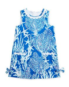 Little Lilly Classic Shift Dress, Brewster Blue, Sizes 2-10 by Lilly Pulitzer at Neiman Marcus.
