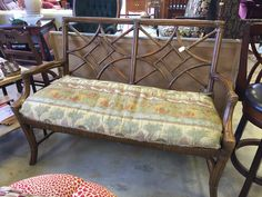 Lovely comfortable bench- $84.15  #mk #consignment #bench #forsale #patio #summer #seating #furniture #home #house #apartment #decor #design