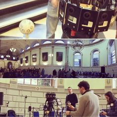 An awesome Virtual Reality pic! A few shots from this evening's  remarkable performance at the Exam Hall in Trinity College Dublin. The culmination of the Trinity 360 project From Within From Without is a newly commissioned multi-movement work by composer Enda Bates for Trinity Orchestra Cue Saxophone Quartet Miriam Ingram and 8-channel loudspeaker array. Funded by Trinity Creative Challenge.  We can't wait to experience it in VR!  #trinitycollege #trinitycollegedublin #tcddublin…