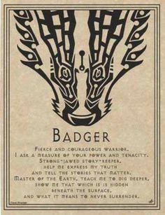 Badger Poem describing Badger