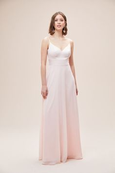 This elegant V-neck, spaghetti-strap bridesmaid dress combines modern shine with a soft, romantic twist. A structured crepe-back satin bodice is paired with an ethereal chiffon skirt. Available in Sydney, Melbourne & Online. Satin Bridesmaid Dresses, Wedding Dresses, Bridesmaids, Melbourne Wedding, Chiffon Skirt, Dress Making, Bridal Gowns, Elegant, Formal Dresses