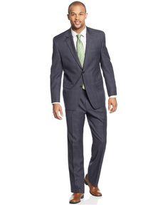 IZOD Suit Blue Plaid - Suits & Suit Separates - Men - Macy's $130