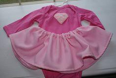 Supergirl Pink Superhero Baby Long Sleeve by Sweetstylesstore, $15.00