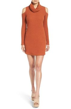 Socialite Cold Shoulder Rib Knit Dress available at #Nordstrom