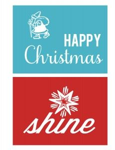 Christmas Card Printable set {4 total} from @sweetcsdesigns