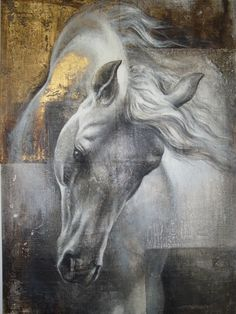 View past auction results for KamilaKarst on artnet Horse Drawings, Animal Drawings, Art Drawings, Painted Horses, Horse Artwork, Inspiration Art, White Horses, Animal Paintings, Horse Paintings