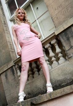 Estelle Pearce - Peach & Stone Fitted Dress