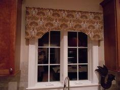 Valance Boards for Kitchen Windows   Custom cornice board for kitchen window