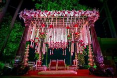 "Amaraay : The Event Diaries ""I ❤️ Marwadi Weddings. Those hangings of Jasmine & Roses are taking this mandap at a different end…"""